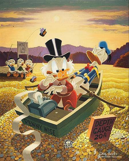 Carl Barks Oil Paintings Prices