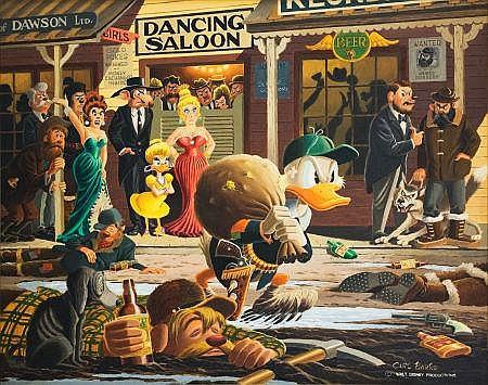 Carl Barks Nobody's Spending Fool Painting Original Art