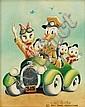 Carl Barks Rumble Seat Roadster Painting Original Art (, Carl Barks, Click for value