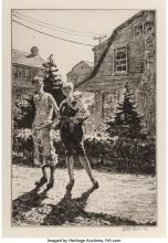 Martin Lewis (American, 1881-1962) Sunday Garden Inspection, 1927 Drypoint on ha