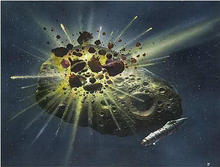CHRIS FOSS (American b.1946) Asteroid Collision,