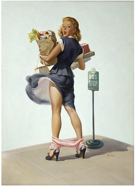 ART FRAHM (American 1907 - 1981) O-Ooh!, 1950 Oil