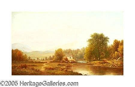 1873 (M6) CHARLES WILSON KNAPP (American 1823-1900)  Landscape Oil on canvas 24.25in. x 42.25in. Signed lower left