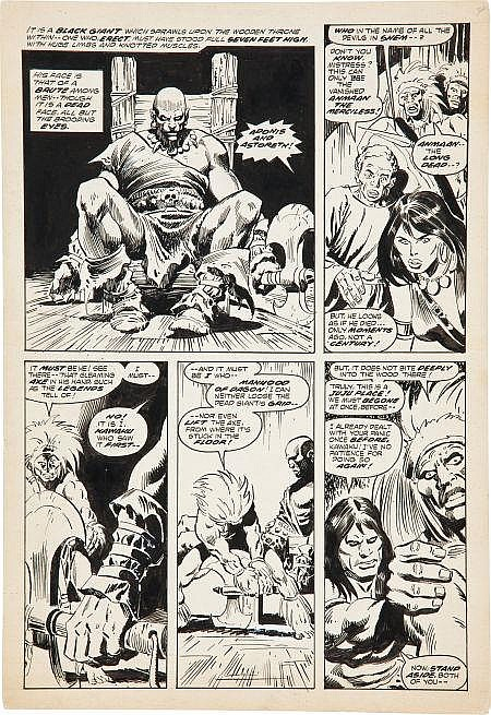 John Buscema and the Tribe Conan the Barbarian #65 Page