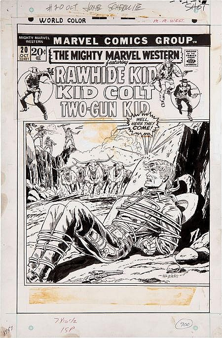 Dick Ayers The Mighty Marvel Western #20 Cover Original