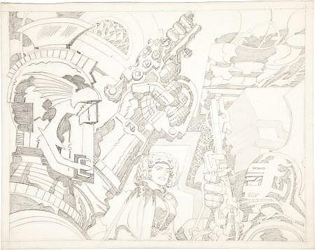 Jack Kirby Science Fantasy Pencil Illustration Original