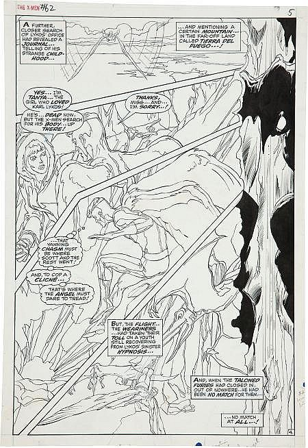 Neal Adams and Tom Palmer X-Men #62 Angel page 4 Origin
