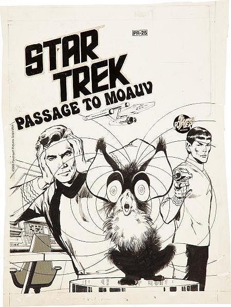 Neal Adams Star Trek Passage to Moauv PR-25 Cover Origi