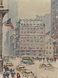 GUY CARLETON WIGGINS (American, 1883-1962) Fifth Avenue