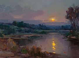 OVANES BERBERIAN (American, b. 1951) Moonlit Night Oil