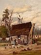 WILLIAM AIKEN WALKER (American, 1838-1921) Wash Day Oil