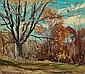 FRANKLIN DE HAVEN (American, 1856-1934) Fall Landscape