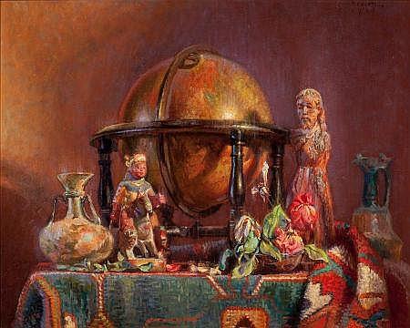 RICHARD VERNON GOETZ (American, 1915-1991) Still Life,
