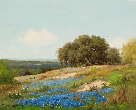 PALMER CHRISMAN (American, 1913-1984) Bluebonnet Hillsi