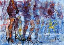 LUIS ENRIQUE CAMEJO (Cuban, b. 1971) Ladies in Line, 20