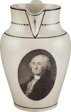 George Washington: Herculaneum Liverpool Pitcher.  7