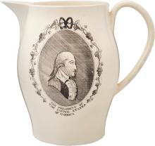 George Washington: A Rare Massive Liverpool Creamware P
