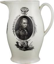 John Adams: Rare and Sought-after Liverpool Creamware P