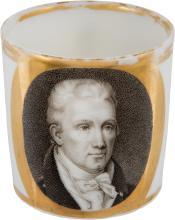 James Monroe: Magnificent Paris Porcelain Demitasse Cup