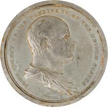 John Quincy Adams: 1825 Inaugural Medal by Furst. JQA-1