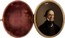 Henry Clay: Colored Portrait on Glass Daguerreotype Cas
