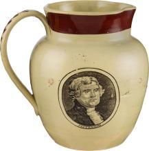 Washington, Jefferson and Lafayette: Staffordshire Pitc