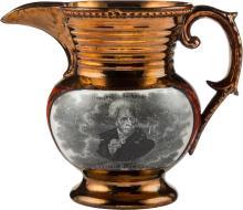 Andrew Jackson: Copper Lustre Pitcher. 4
