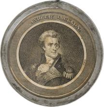 Andrew Jackson: A Highly Important Large-size Pewter Ri