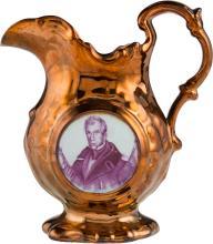 William Henry Harrison: Copper Lustre Pitcher. 6