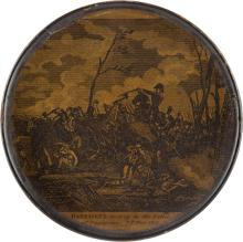 William Henry Harrison: Rare Papier Mâché Snuff Box Dep