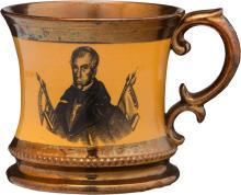 William Henry Harrison: A Scarce Copper Luster Mug. A v
