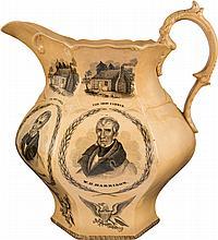 William Henry Harrison: Massive 1840 Campaign Pitcher,