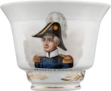 Zachary Taylor: Exquisite Hand-Painted Tea Cup. 2 3/4