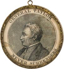 Zachary Taylor: Brass Rim Medallion. ZT-1848-9, 39 mm g