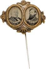 Greeley & Brown: Ferrotype Jugate Stickpin. 1