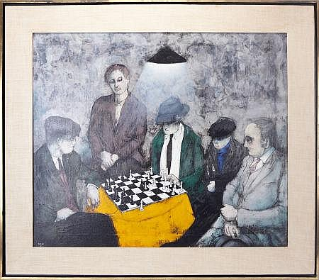 Chess Game (1967) by Franco Minei (Italian, born 1922).