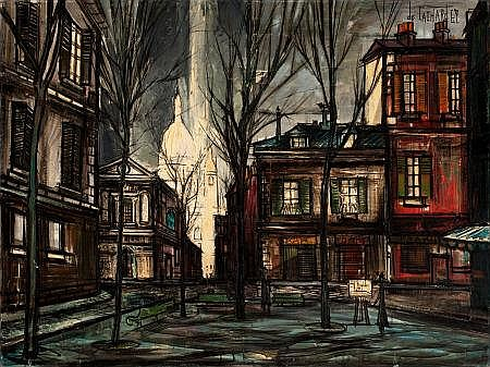 Place du Tertre, Paris (1969) by Regis (Count) Bouvier