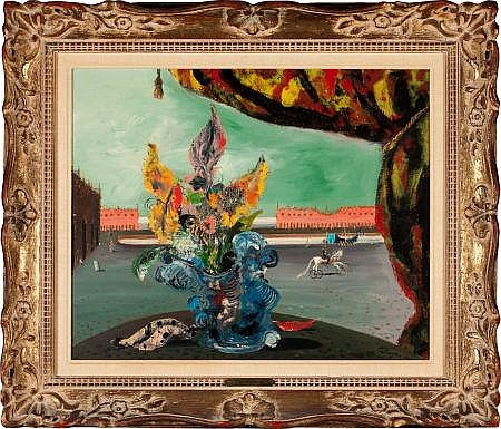 Surrealist Bouquet with Fantastic Piazza and Circus Fig