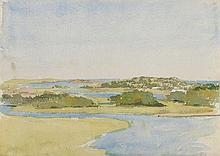 CHARLES STUART FORBES (American, 1860-1926) Estuary Wat