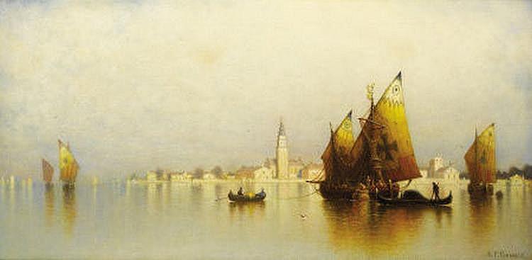 ANDREW FISHER BUNNER (American 1841-1897) Venetian