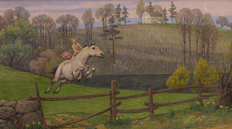 BRYSON BURROUGHS (American 1869-1934) The Horse