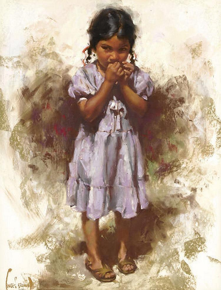 HARLEY BROWN (American b. 1939) Young Indian Girl
