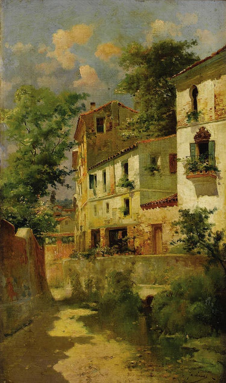 JOSÉ MARÍA JARDINES (Spanish 1862-1932) Casas