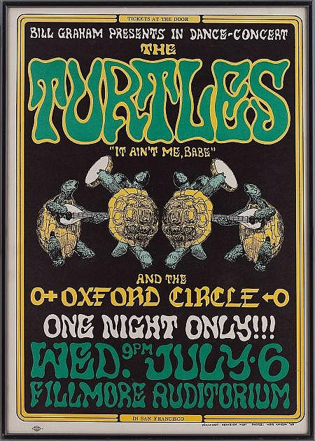 The Turtles Fillmore Auditorium Concert Poster BG-15 (B