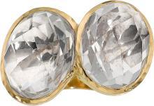 Rock Crystal Quartz, Gold Ring, David Webb  The ring fe