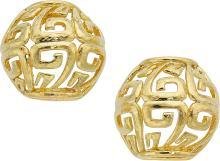 Gold Earrings, David Webb  The 18k gold earrings weigh