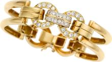 Diamond, Gold Bracelet  The bracelet features full-cut
