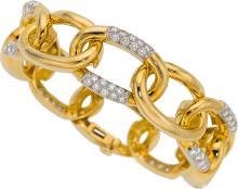 Diamond, Platinum, Gold Bracelet, David Webb  The brace