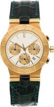 Bvlgari Gentleman's Gold Diagono Chronograph Watch  Cas
