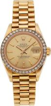 Rolex Lady's Gold Oyster Perpetual Datejust Watch, circ